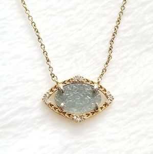 Stella & Dot Charlotte Blue Druzy Necklace